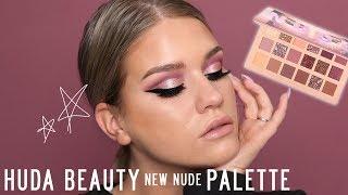 HUDA BEAUTY NEW NUDE PALETTE / 3 LOOKS + REVIEW | Samantha Ravndahl