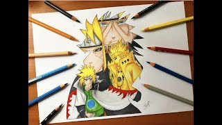Speed Drawing - Minato 4th Hokage Evolution (Naruto Shippuden) [HD]