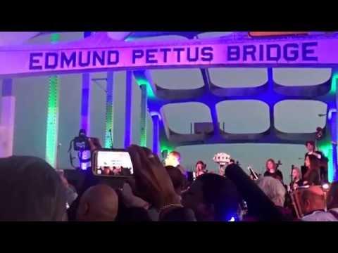 "John Legend LIVE ""Bridge Over Troubled Water"" at Edmund Pettus Bridge"