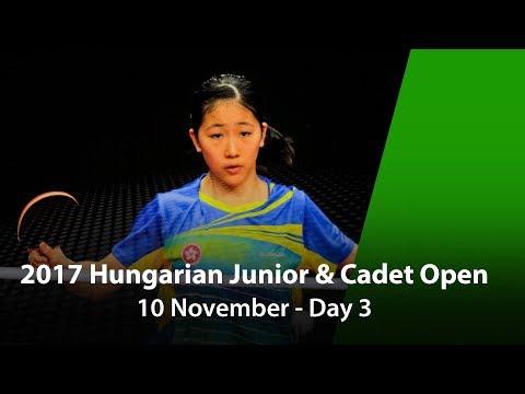 2017 ITTF Hungarian Junior & Cadet Open - Day 3