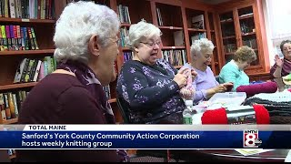 Dedicated knitters helping to keep Mainers warm this winter