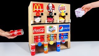 how to make fast food kfc mcdonalds burger king and drinks pepsi coca cola vending machine