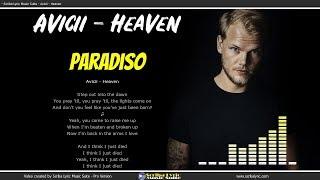 Avicii - Heaven - Lyrics / Video lyric  testo e traduzione in italiano Video