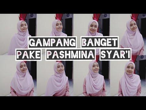 TUTORIAL PASHMINA SYAR'I TAPI STYLISH ! (hijab menutup dada) | shandram.