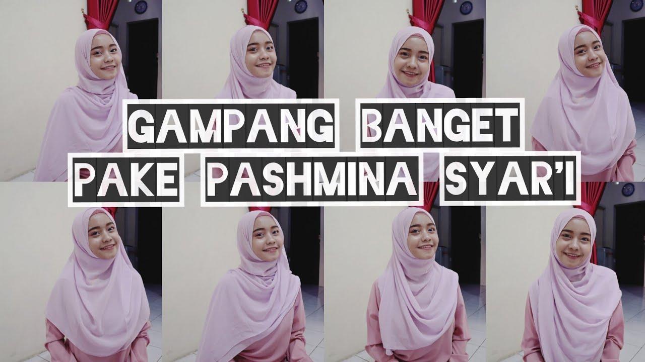 5 Tutorial Hijab Pashmina Simpel Menutup Dada Syar I By Yiyis Close Giveaway Youtube