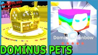 GOODBYE GIANT DOMINUS CHEST + 8 NEW RAINBOW DOMINUS PETS IN ROBLOX PET SIMULATOR