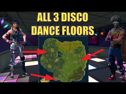 FORTNITE Disco Dance Floor Locations Week 8 Challenge