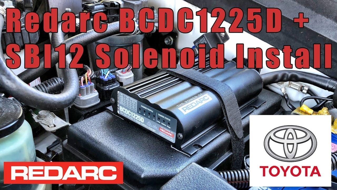 hight resolution of redarc bcdc 1225d and sbi12 solenoid install in prado 150