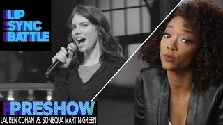 Lauren Cohan vs. Sonequa Martin-Green (Preshow) | Lip Sync Battle thumbnail