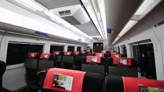 """長野電鉄 2100系 特急「スノーモンキー」 車内風景 Nagano Electric Railway limited express """"Snow Monkey"""" (2018.4)"""