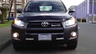 hid 6000k 35w low beams and 25w led high beams drl on toyota rav4 2011 v6 sport