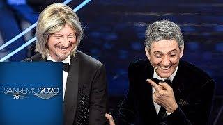 """Sanremo 2020 - """"AmaRello"""": il duetto di Fiorello e Amadeus"""