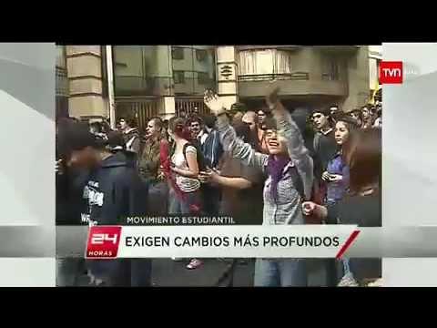 Dirigentes estudiantiles encabezaron marcha convocada por la Confech - 24 HORAS TVN 2012