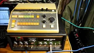 Roland CR-5000 Compu Rhythm + RE-101 Space Echo