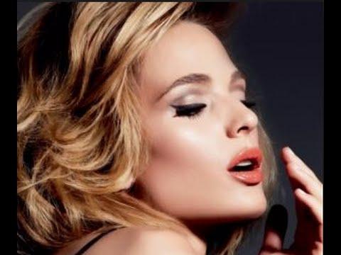❀Дневной макияж для серых глаз - макияж с коралловой помадой❀