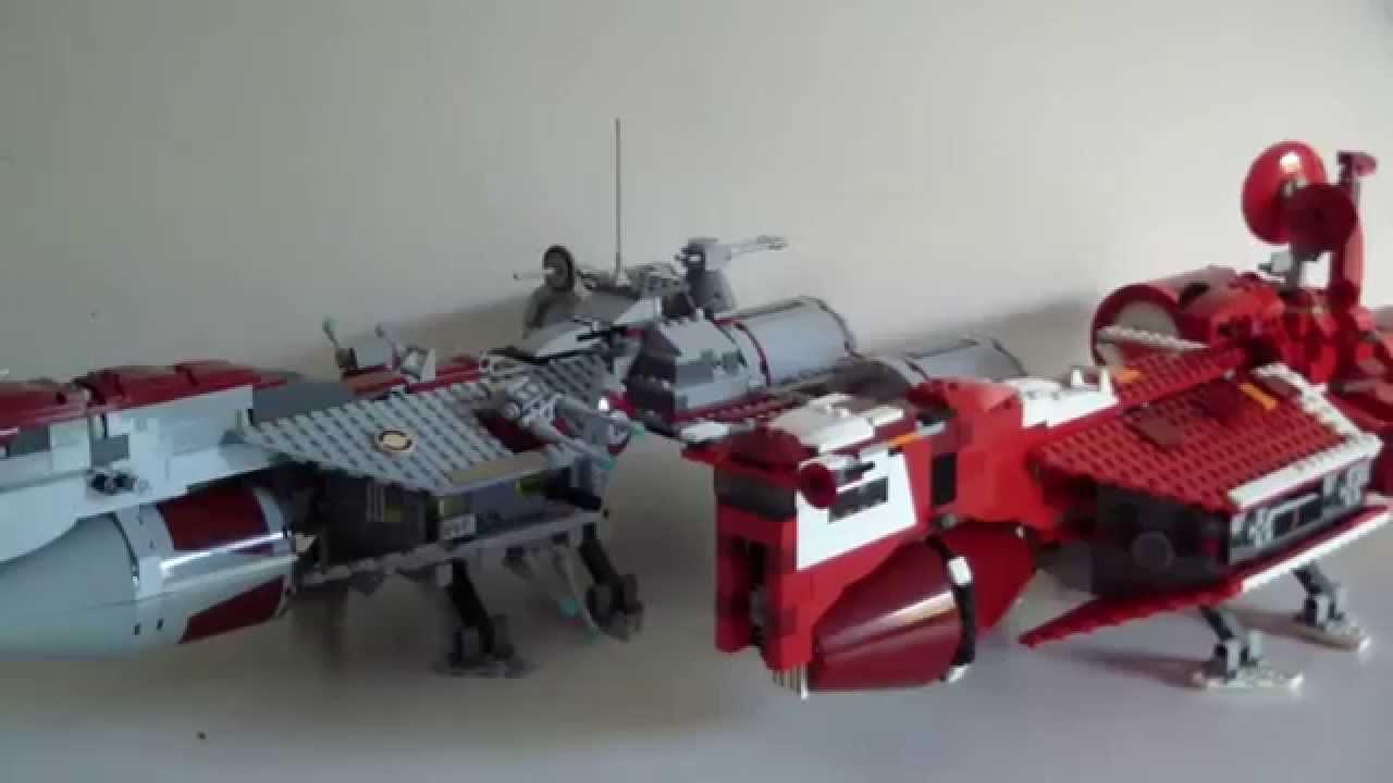LEGO Star Wars Republic Frigate/Cruiser Comparison (7665 ...