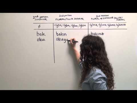 Turkish Grammar: Affirmative Imperatives (Do that!)