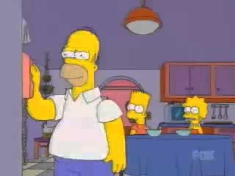 Homer on hold, singing