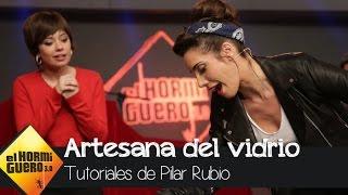 Pilar Rubio se convierte en toda una artesana del vidrio - El Horm