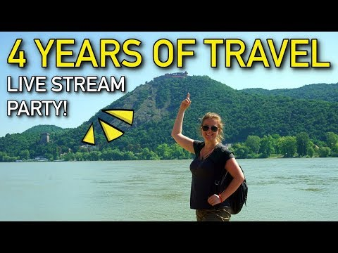 4 YEARS OF TRAVEL LIVE STREAM PARTY!!