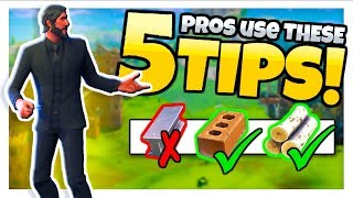 Pros Use THESE 5 BUILDING TIPS to OUT-PLAY EVERYONE (Fortnite Battle Royale)
