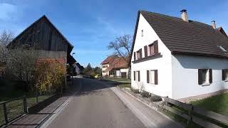 Пересечение границы Франция - Германия. Деревня в Германии