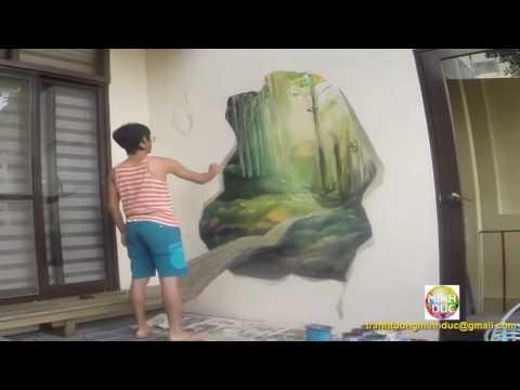 Nghệ thuật vẽ tranh 3d trên tường quá đỉnh