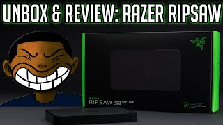 RAZER RIPSAW Unboxing & Review (1080P 60FPS USB 3.0)