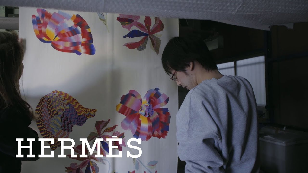 Hermes Silk Marbling A Japanese Technique Rediscovered Youtube