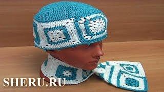Юбка, шарф и шапка в технике пэчворк Урок 27 часть 8 из 8 Вязание крючком