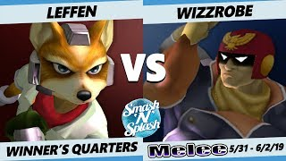 SNS5 SSBM - TSM   Leffen (Fox) Vs. Wizzrobe (Falcon) Smash Melee Winner's Quarterfinals