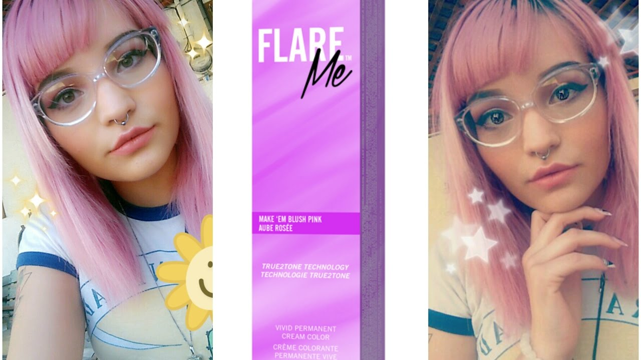 Clairol Flare Me Make Em Blush Pink Review Dying My Hair Pink