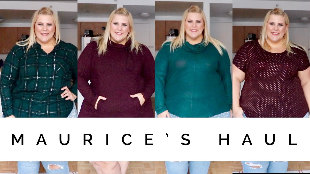 bd24289b09 Affordable Plus Size Haul + Try On  First Time Trying Maurices - YouTube