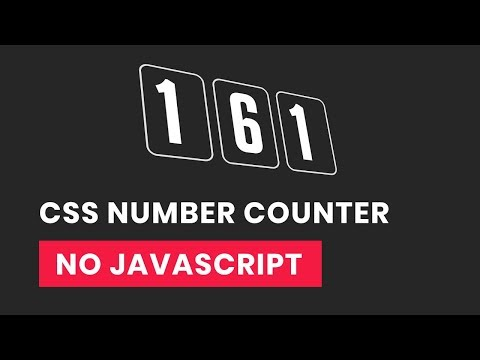 Pure css Number Counter   CSS Countdown animation   No Javascript