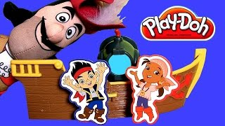 New Play Doh Pirate Adventure Ship Featuring Jake And The Neverland Pirates & Captain Hook