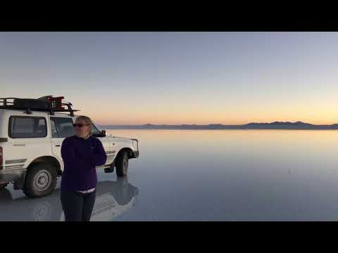Uyuni sunset with reflection