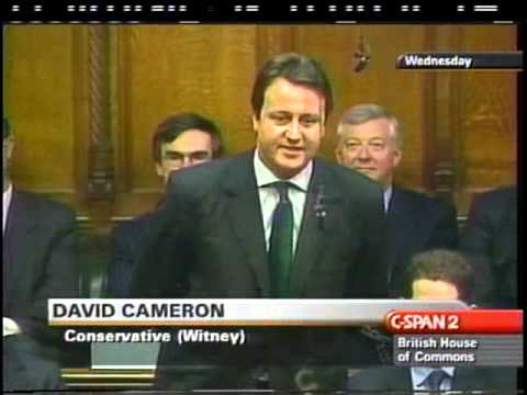 David Cameron first PMQ question, 2002