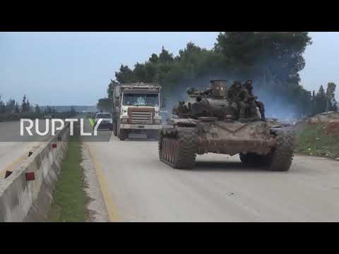 Syria: SAA convoy