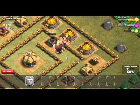 How To Clash Of Clans Single Player FoolsGold 3 Star 20 Giants