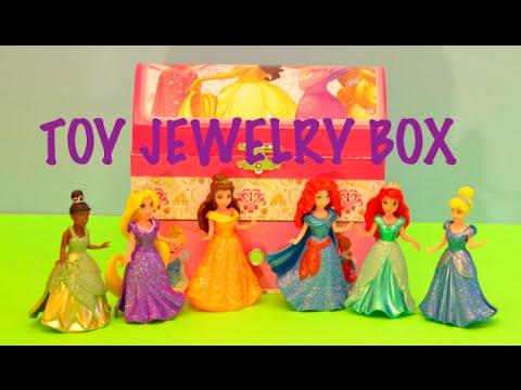 Disney Princess Ariel Jewelry Box Toy Review Opening Kids Video Zone