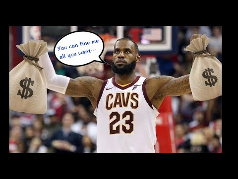"""NBA """"Fined"""" Moments (Part 5)"""