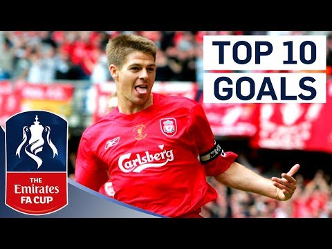 Gerrard Scores a Screamer! | Top 10 Emirates FA Cup Goals by England Players | From The Archive