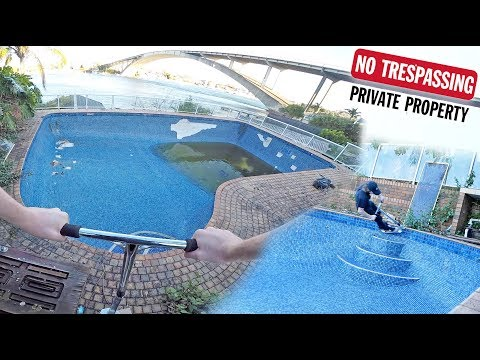 SNEAKING INTO MANSION BACKYARD POOL TO RIDE SCOOTERS!