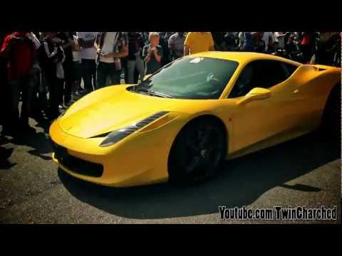 Yellow Ferrari 458 Italia  - On Track
