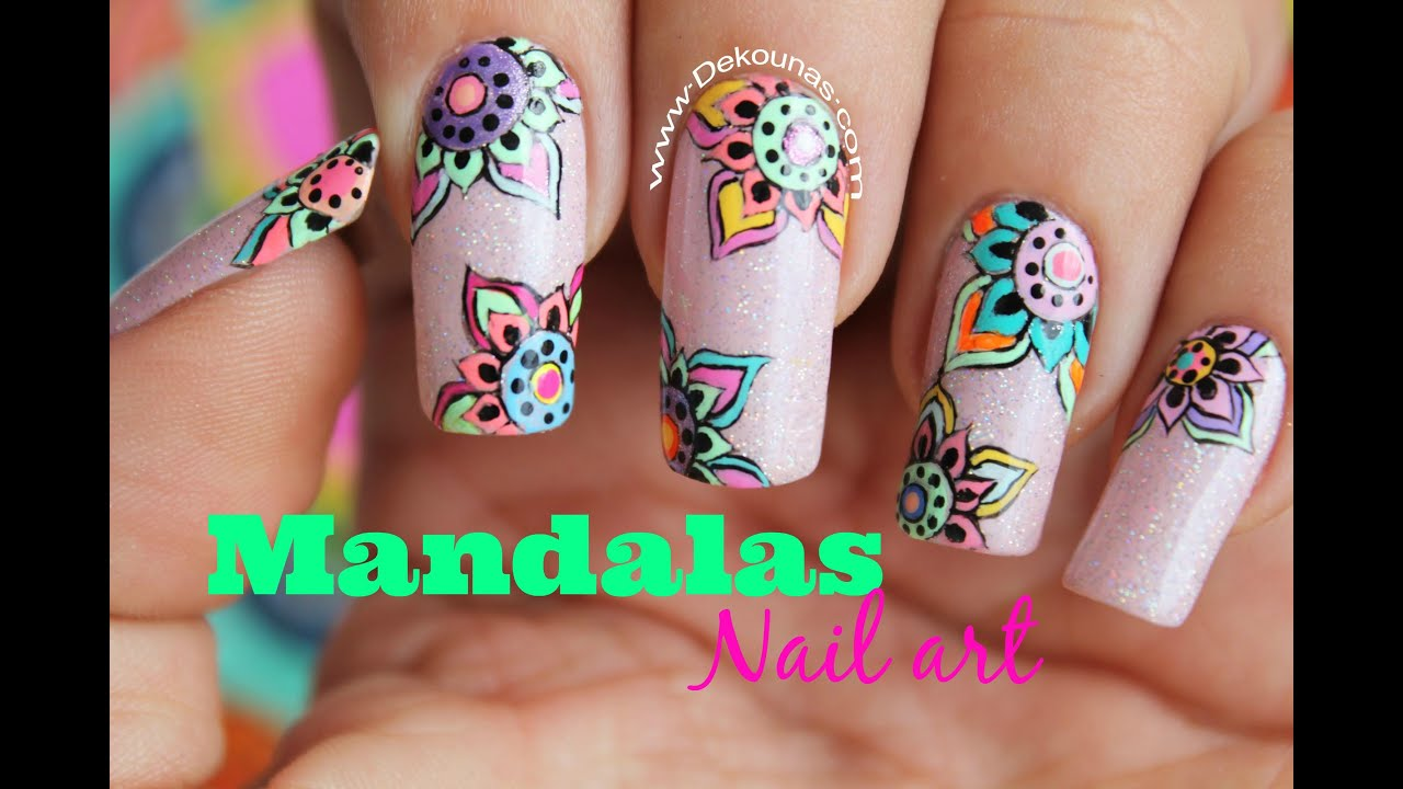 Decoración De Uñas Mandalas Mandala Nail Art Youtube
