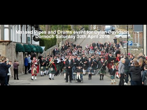2016 04 30 Dornoch: Massed Pipes and Drums for Dylan Davidson