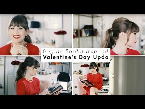 Brigitte Bardot Inspired Valentine's Day Updo