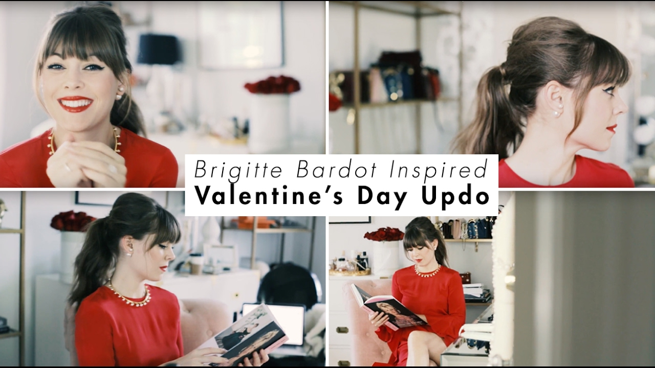 Brigitte Bardot Inspired Valentine\'s Day Updo - YouTube
