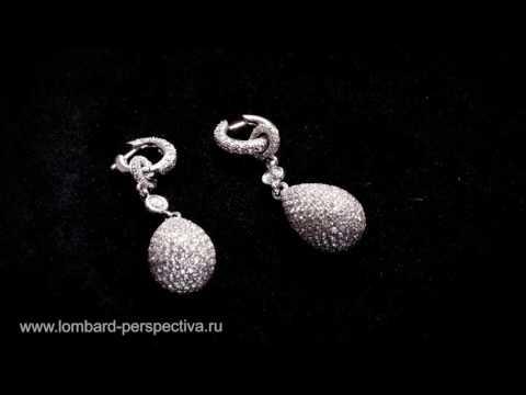 Серебряные серьги с эффектными камнями в каталоге OLIN