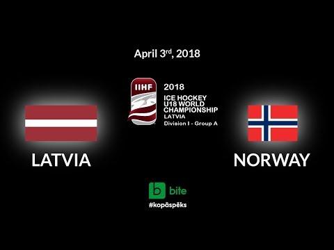 Latvia - Norway, Ice Hockey U18 World Championship, 2018